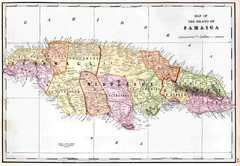 Real Life Map Collection Mappery - Jamaica political map 1968