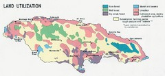Jamaica - Land Utilization 1968 Map