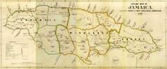 Jamaica Outline Map 1882