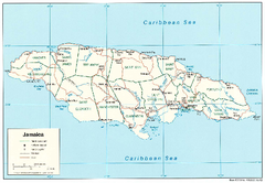 Jamaica (Political) 2002 Map