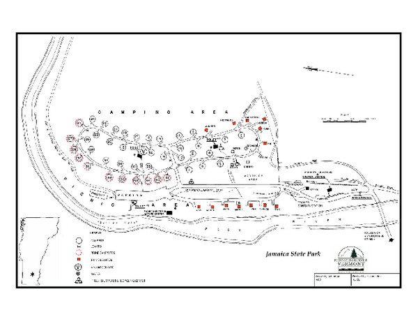 Jamaica State Park Campground Map