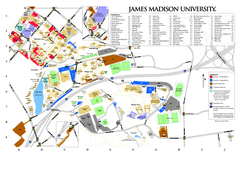 James Madison University Map