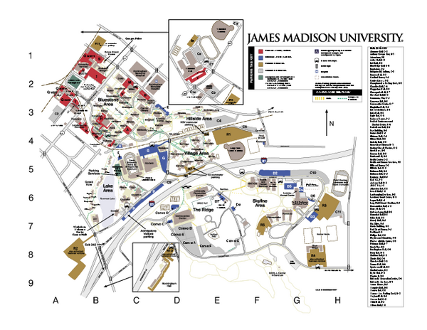 James Madison University Map - Harrisonburg Virginia • mappery