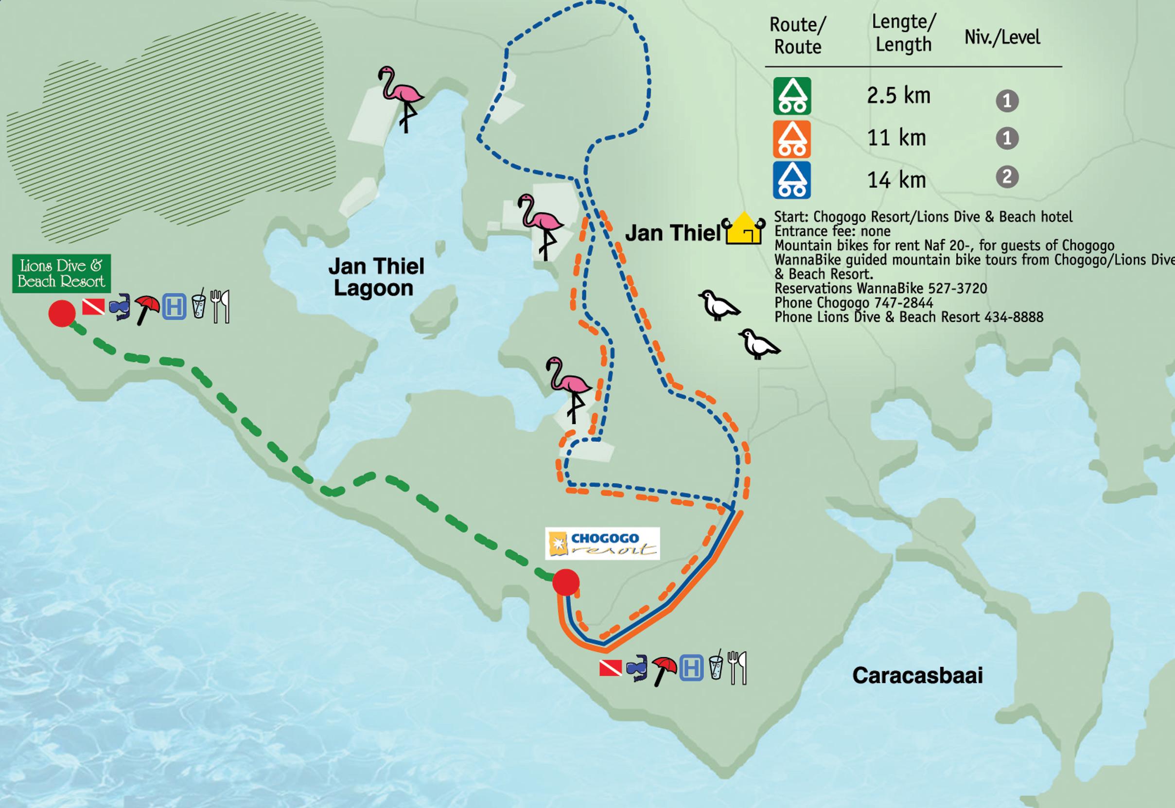 Jan Thiel Lagoon Mountain Biking Trail map Curacao mappery