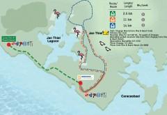 Jan Thiel Lagoon Mountain Biking Trail map