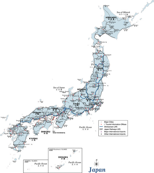 japan map. Fullsize Japan Map