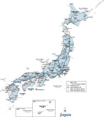 Urban Region Map Japan Map Japan Mappery - Japan map by region