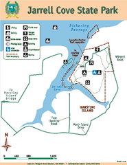 Jarrell Cove State Park Map