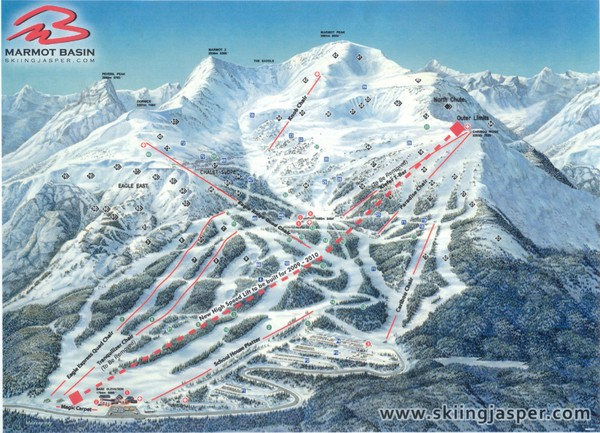 Jasper's Marmot Basin Future Lift for Ski Trail Map