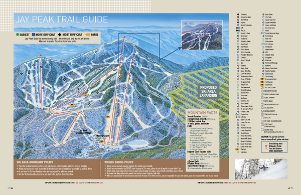 Jay Peak Ski Trail Guide Map