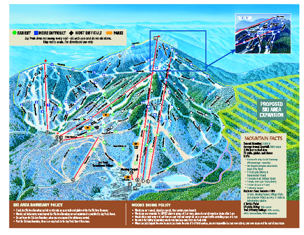 Jay Peak Ski Trail Map