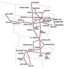 Jefferson Bus Line Map