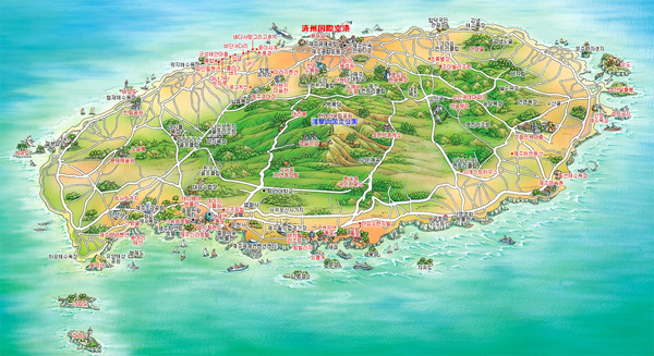South Korea maps mappery – Seoul Tourist Attractions Map