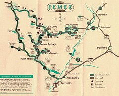 Jemez Mountains, New Mexico Tourist Map