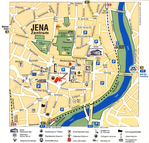 Jena City Map Jena Germany mappery