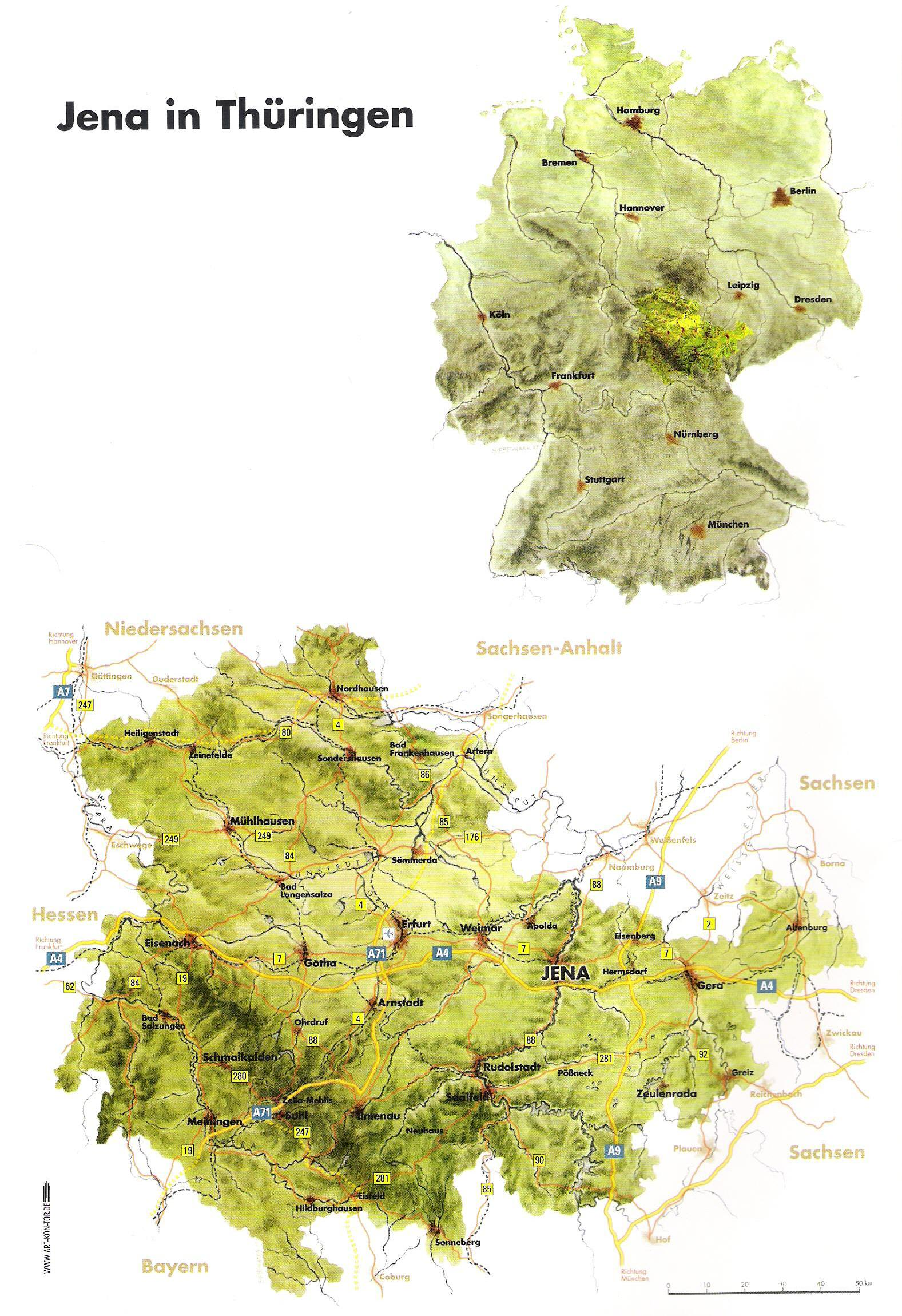 Topographical Map Of Germany.Jena Topographic Map Jena Germany Mappery