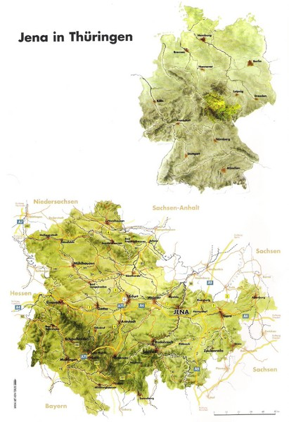 Jena Topographic Map - Jena Germany • mappery