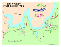 Jenny Wiley State Resort Park Map