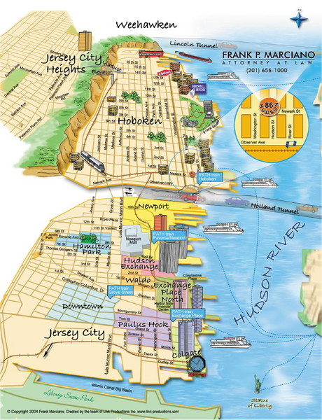 Jersey City, New Jersey City Map