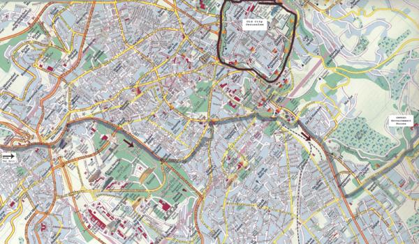 Jerusalem Map - Jerusalem Israel • mappery Jerusalem Map