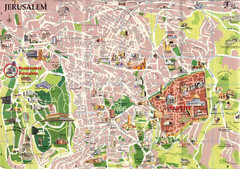 Jerusalem Tourist Map