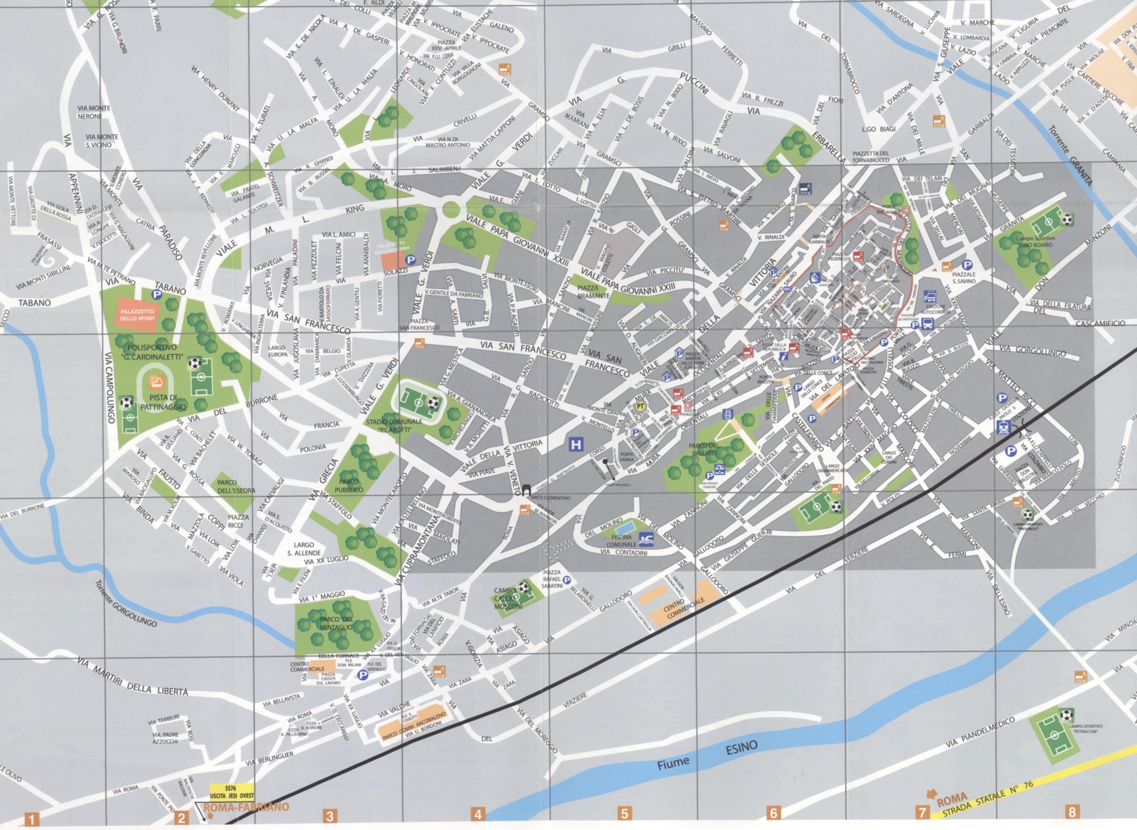 Jesi Italy  City new picture : Jesi Map Jesi Italy • mappery