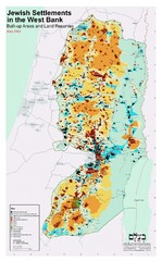 Jewish Settlements in West Bank Map