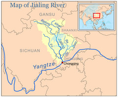 Jialing River Map
