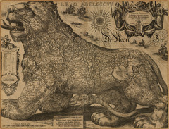 Jodocus Hondius' Map of Belgium as a Lion...