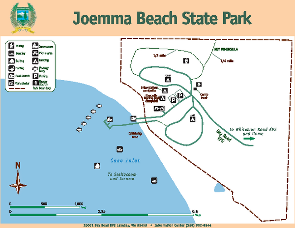Joemma Beach State Park Map