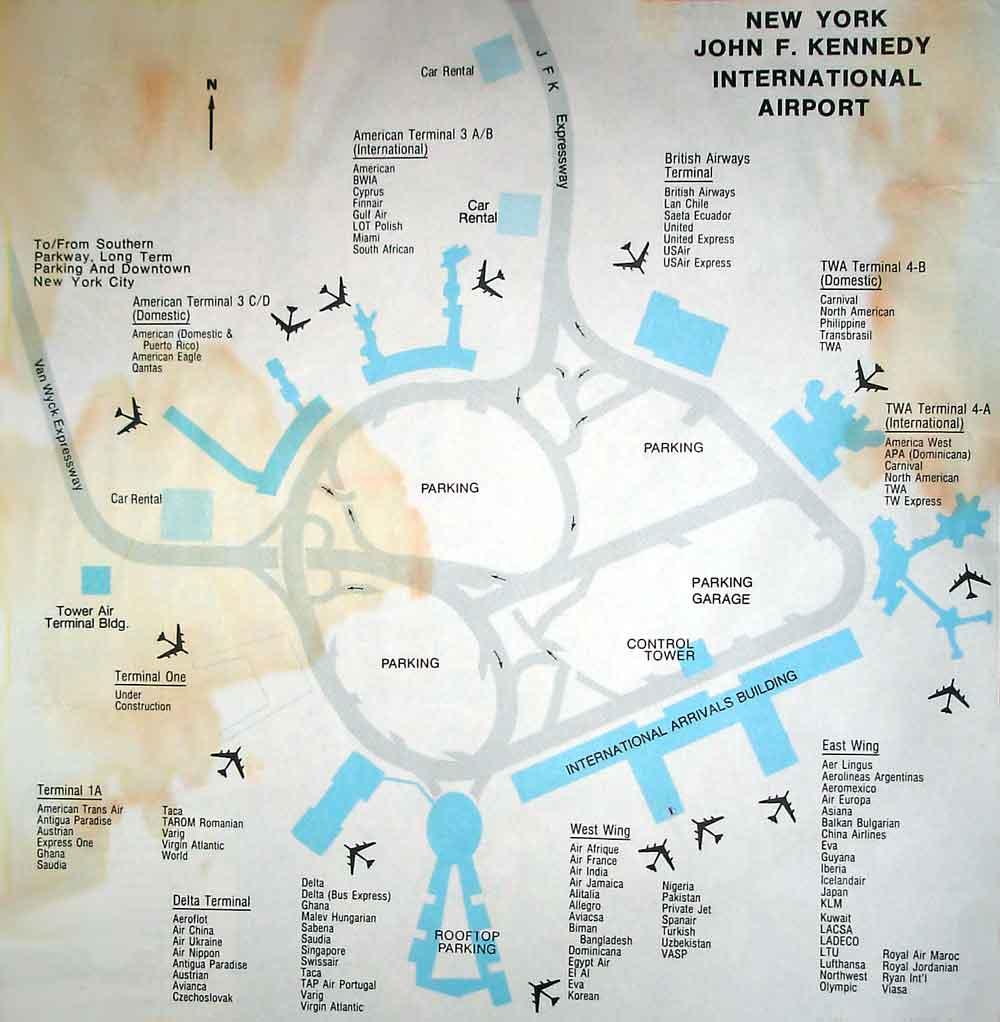 John F Kennedy International Airport Map  John F Kennedy