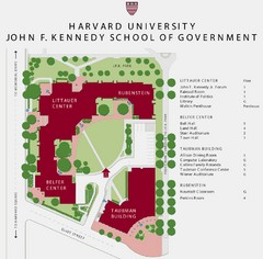 John F. Kennedy School of Government Campus Map