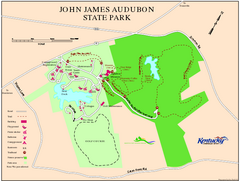John James Audubon State Park Map