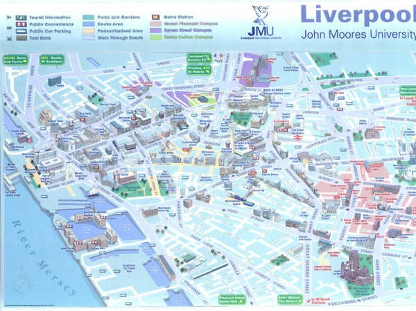 John Moores University Map - Liverpool UK • mappery