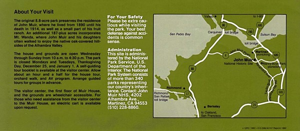 John Muir National Histroric Site Map