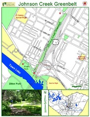 Johnson Creek Greenbelt Map
