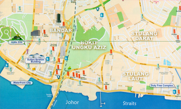 Johor Bahru City Map Johor Bahru Malaysia mappery