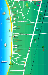 Jomtien Beach Map