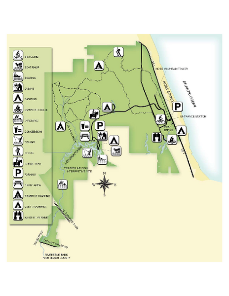 Jonathan Dickinson State Park Map