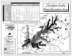Jordan Lake State Recreation Area map