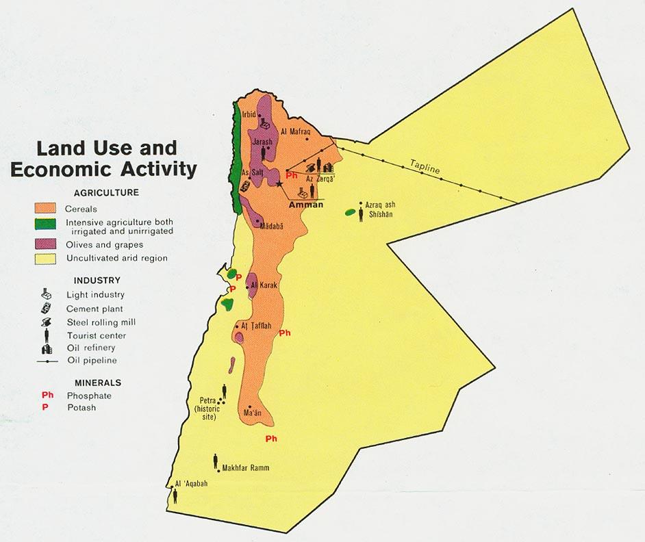 Jordan Land Use Map Mappery - Map of jordan