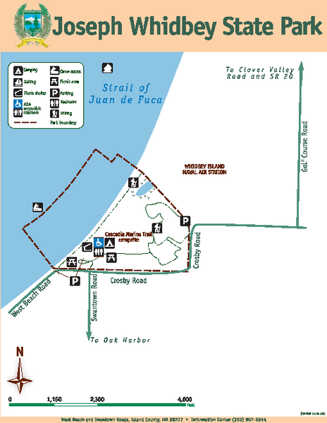 South Whidbey Island State Park Trail Map