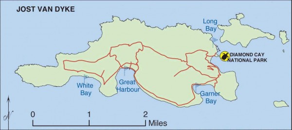 Jost Van Dyke map