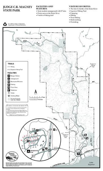 Judge CR Magney State Park Map - 4051 East Highway 61 Grand