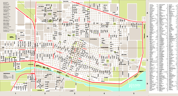 Junin City Map - Junin Argentina • mappery