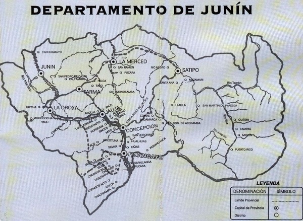 Junin Guide Map