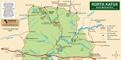 Kafue National park north Map