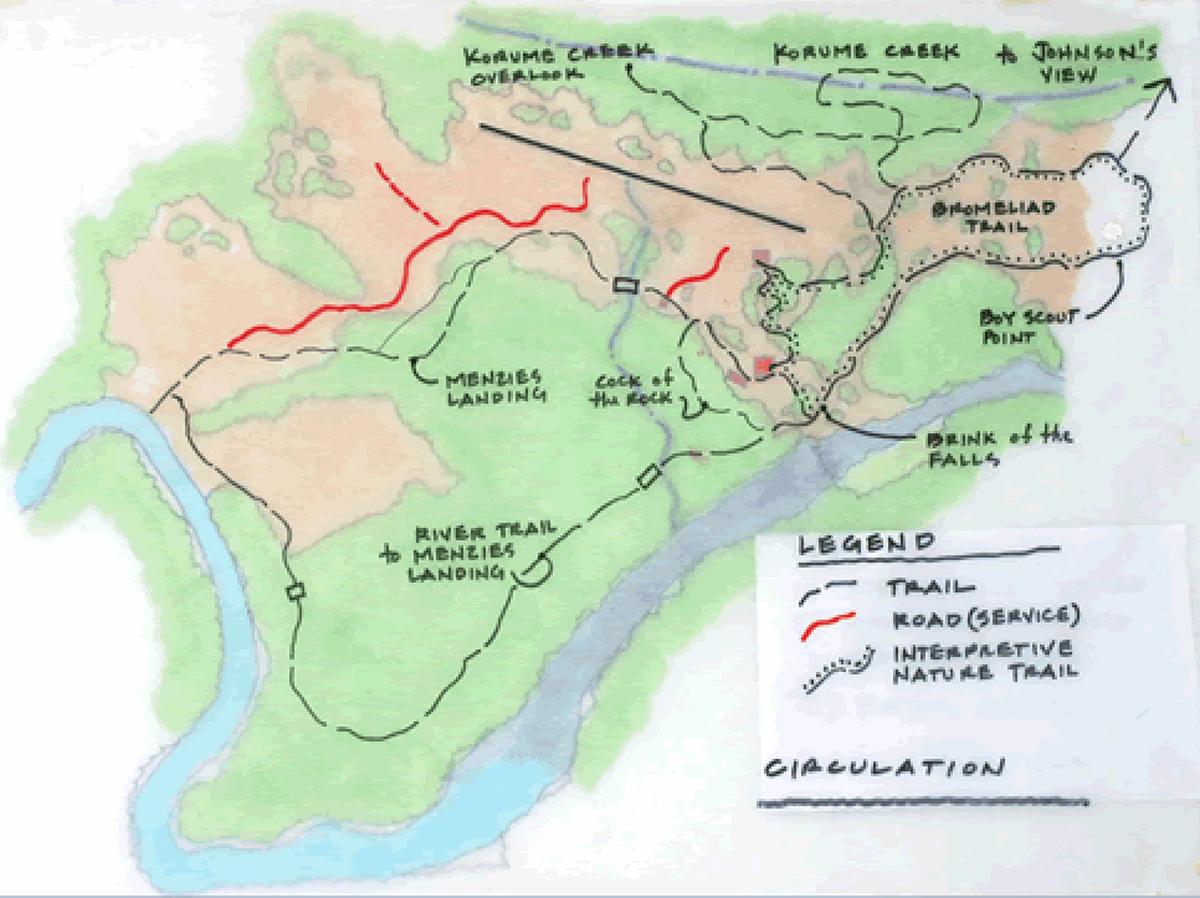 Kaieteur Falls Trail Map Kaieteur Falls Guyana mappery
