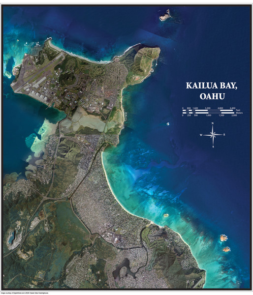 Kailua Bay Poster Map