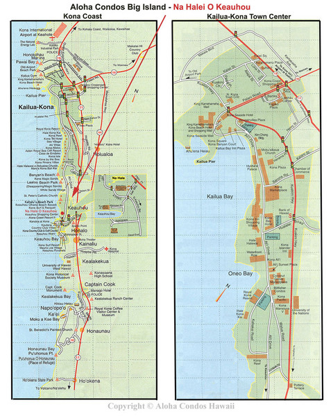 Kailua, Hawaii Tourist Map